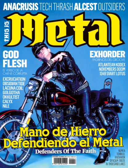 This Is Metal Revista Magazine Judas Priest, Anacrusis, Godflesh, Alcest, Exhorder, Nile, Calyx, Golgotha, Okkultist, Seidemann, 1349, Svart Lotus, Lacuna Coil, Excruciation, Obsidian Tide, Atlantean Kodex, Novembers Doom, Numen, Toxikull, Ragnarok, Officium Triste, In Thousand Lakes